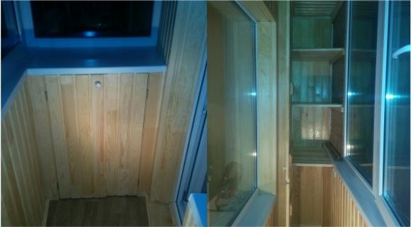Утепление и отделка балкона вагонкой - г. тюмень, ул. энерге.