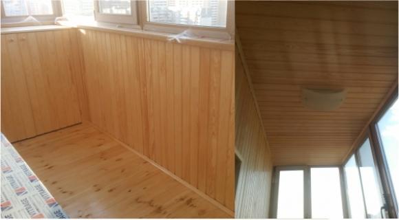 Утепление и отделка балкона вагонкой - г. тюмень, ул. широтн.