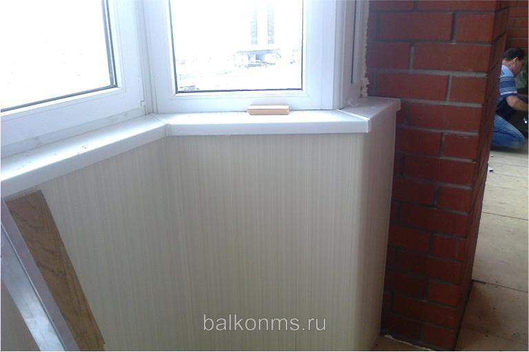 Внутренняя отделка лоджии пвх панелями - г. тюмень, ул. моск.