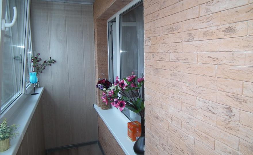 Варианты отделки стен лоджий.